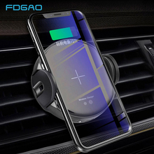 FDGAO 15W Qi Car Wireless Charger For iPhone 8 X XS MAX XR Samsung S9 S8 Automatic Car Phone Holder Fast Charging Air Vent Stand arvin wireless charger car phone holder for iphone 8 x xr xs max samsung s9 universal gravity fast wireless air vent mount stand