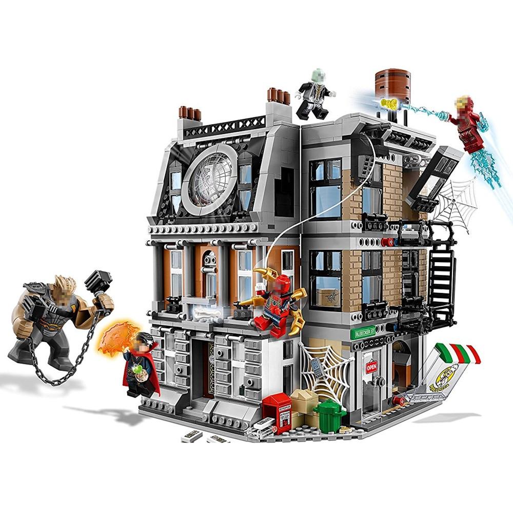 Super Heroes Sanctum Sanctorum Showdow Avengers Infinity War Building Blocks Kit Movie Classic Kids Toys Marvel Compatible Legoe sanctum