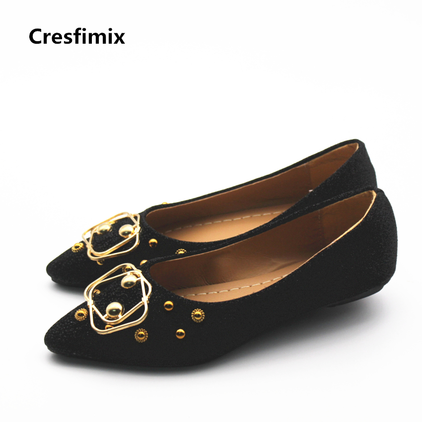 Cresfimix zapatos de mujer women casual spring & summer slip on flat shoes lady cute comfortable street shoes fashion cool shoes cresfimix women cute black floral lace up shoes female soft and comfortable spring shoes lady cool summer flat shoes zapatos