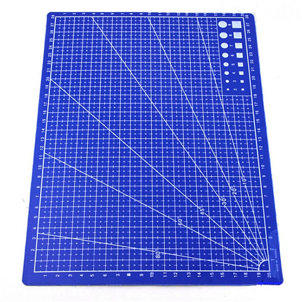 School & Educational Supplies Plastic Materials Patchwork Ruler Blue A4 Cutting Plate 30*22cm School Stationery Supplies Tailor A4 Cutting Mat