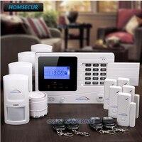 Homsecur беспроводный и проводной GSM домашняя охранная сигнализация + PIR датчик + дверной датчик