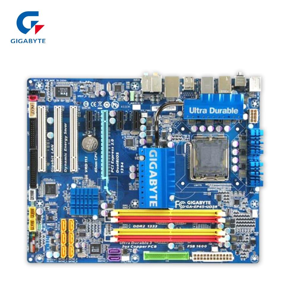 все цены на  Gigabyte GA-EP45-UD3R Original Used Desktop Motherboard EP45-UD3R P45 LGA 775 DDR2 16G SATA2 USB2.0 ATX  онлайн