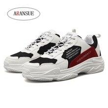 ARANSUE Men's four seasons casual shoes Fashion atmosphere Antiskid men's shoes size 39-44 Mosaic design men's shoes