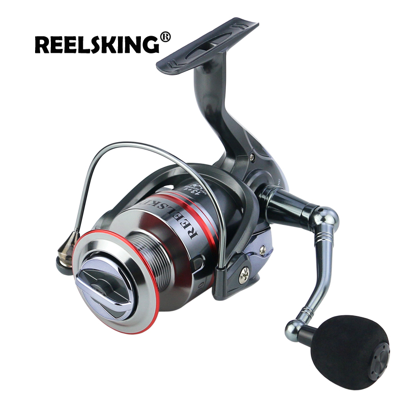 REELSKING Gear Ratio Up to 5 2 1 Spinning Fishing Reel with Exchangeable Handle Automatic folding