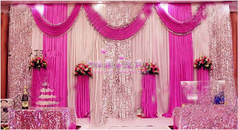 font b Wedding b font supplies Stage font b Backdrop b font with Detachable Swag