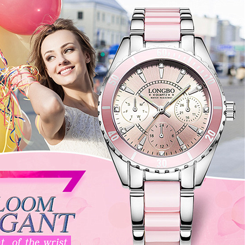 LONGBO Brand Women Watch Ladies Quartz Watches Ceramic Bracelet Wristwatch Relogio Feminino Montre relogio feminino Mujer