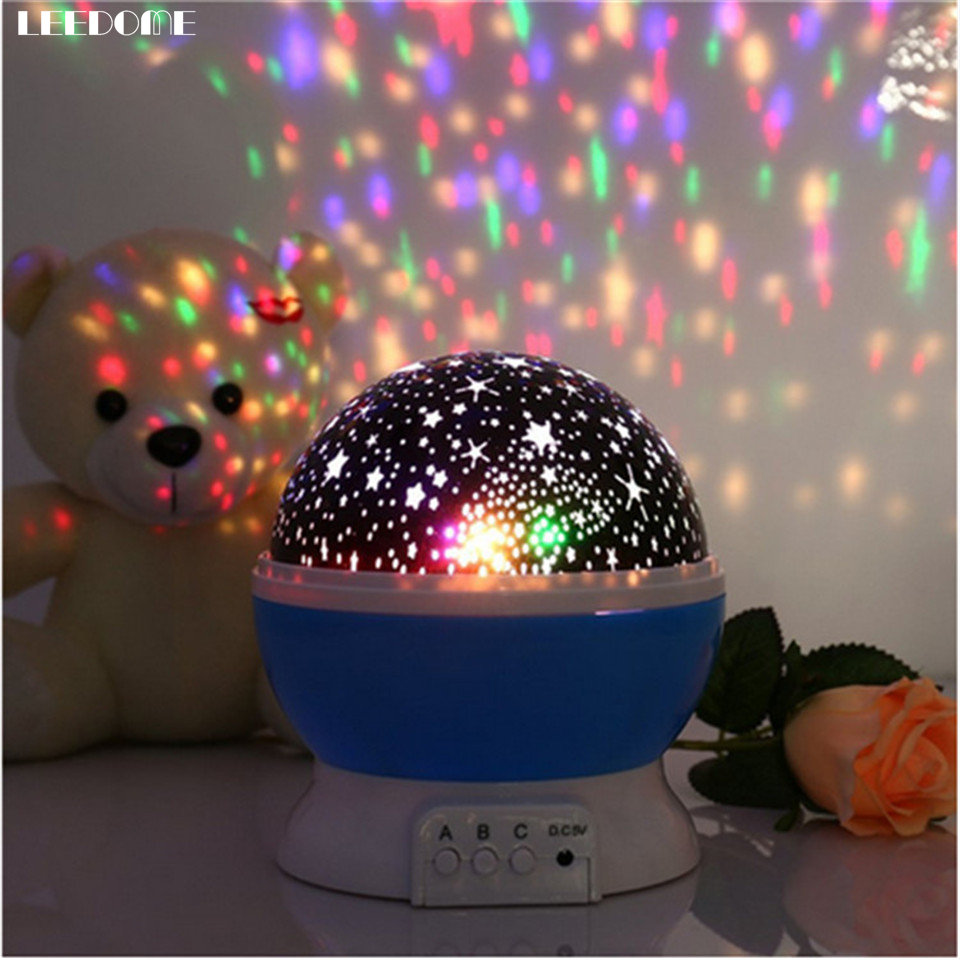 Dropship Ball Shape Projector LED Night Lamp Starry Star Moon Projection Lamp Wedding Holiday Atmosphere Decor Nightlight