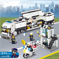 511PCS Police Truck Police Station Building Blocks Sets Model Educational DIY Bricks Classic Baby Toys For Children Gift lepin