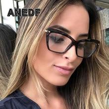 ANEDF Moda Quadrados Óculos de Armação Mulheres Trending Estilos de Design  Da Marca Óptica Óculos de Computador Oculos de sol Ey. 7a71602f27