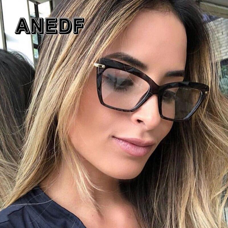 189e99237 Detalle Comentarios Preguntas sobre Gafas cuadradas De moda ANEDF para mujer  con diseño De marca De estilos De tendencia gafas ópticas para ordenador  Oculos ...