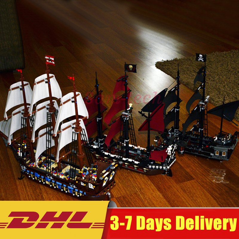 Clone 10210 4184 4195 LEPIN 22001 Imperial Warships + 16006 Black Pearl Ship + 16009 Queen Anne's revenge Pirates Series Toys lepin 16009 queen anne s revenge 22001 imperial warships model building blocks for children pirates toys clone 4195 10210