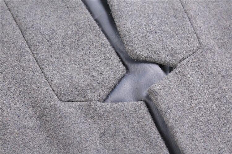 Tout Noir Vêtements Black Pour Élégant De gray Veste Célébrités Femmes Veste Style allumette D'hiver Laine Gris pTURx1nqBw