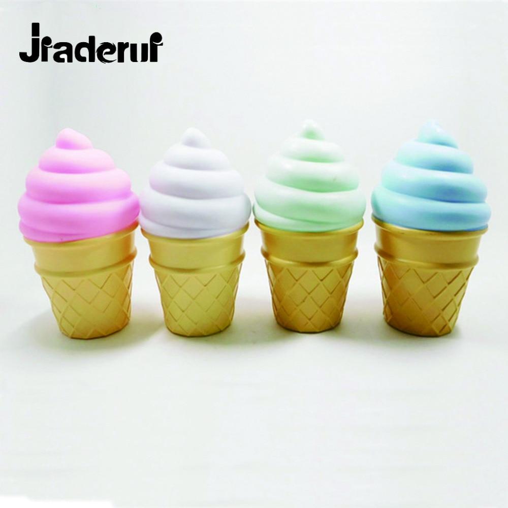 Jiaderui Cute <font><b>Led</b></font> Night Lights 3D <font><b>Ice</b></font> <font><b>Cream</b></font> Luminaria Lights White Pink Green Blue Table Night Lamps Baby Bedside Decoration