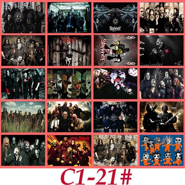 C1 21 slipknot klasik band seri stiker 20 pcs pvc art koleksi kerajinan