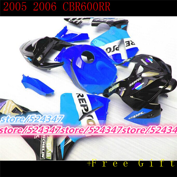 Injection For F5 Blue Cbr600 Rr 05 06 Cbr600f5 Cbr 600 600rr Cbr600rr 05 06 F5 Blue 2005 2006 Body Fairings In Covers Ornamental Mouldings From