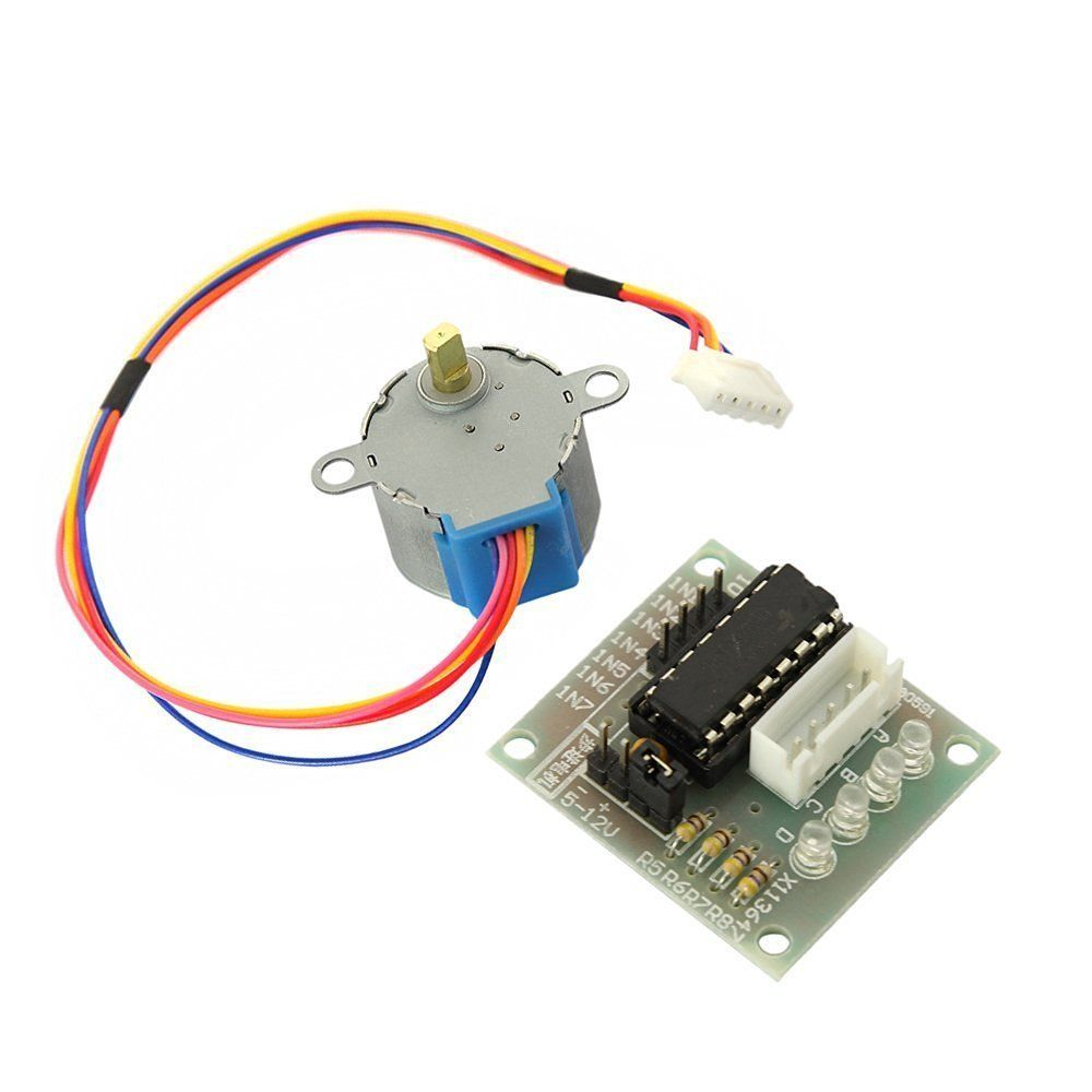 5 PCS 12V Stepper Motor 28BYJ-48 + Drive Test Module Board ULN2003 5Line 4 Phase toothed belt drive motorized stepper motor precision guide rail manufacturer guideway