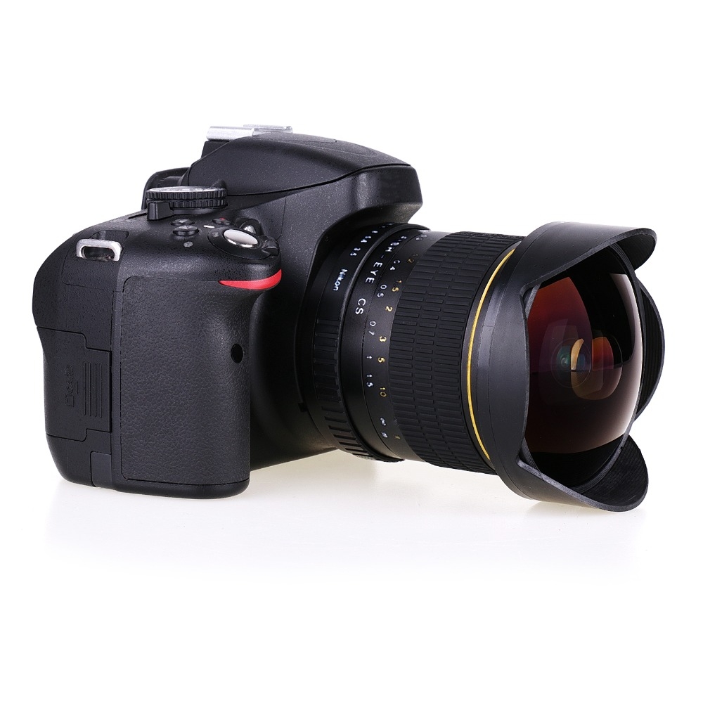 Nouvel objectif Fisheye Ultra grand Angle 8mm F/3.5 pour appareil photo reflex numérique Nikon D3100 D3200 D5200 D5500 D7000 D7200 D800