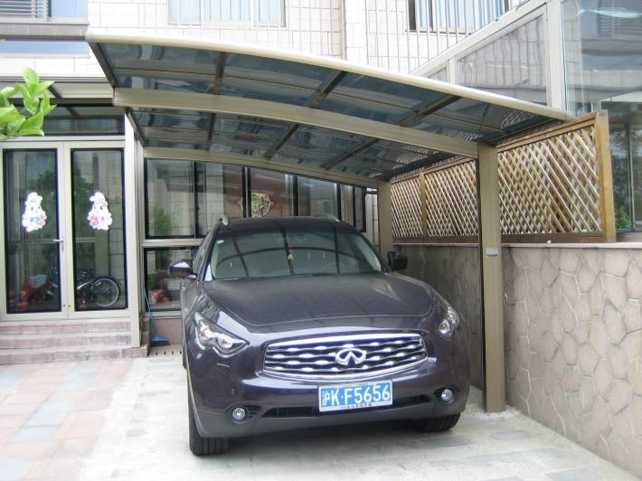 Metal Vehicle Shelters : Aluminum protective car shelter metal canopy
