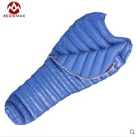 AEGISMAX Outdoor Camping Sleeping Bag Adult Ultralight 800FP Goose Down Sleeping Bags Single Person 30 Degree