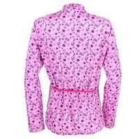 PALADIN Pink Womens Flower Long Sleeve Cycling Jersey Bike Shirt Cycling Clothing