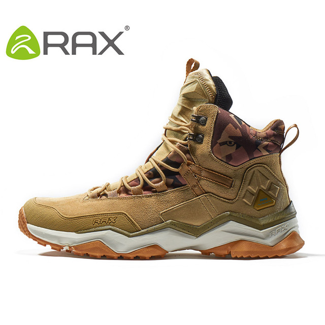 RAX 2018 Waterproof Hiking Shoes For Men Winter Hiking Boots Men Outdoor Boots Climbing Walking Mountaineering Trekking Shoes