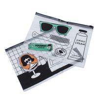 Fashion Women Men Travel Cosmetic Bag For Make Up PVC Toiletry Bags Transparent Case Makeup Bag Organizer Wash Bags Cosmetic Bags