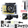 Sport camera 30M 2.0 inch LCD 4k Action Cam 4K camera 16M WIFI Camra Deportiva Extra Aluminum Extendable Pole Stick+bag