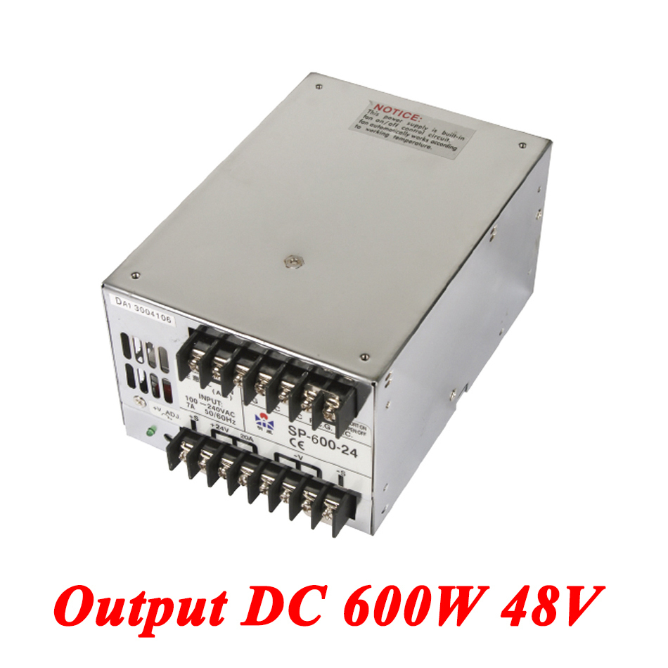 SP-600-48 PFC 600W 48v 12.5A,Single Output Industrial-grade Switching Power Supply,AC110V/220V Transformer To DC 48 V AC-DC sp 500 48 pfc switching power supply 500w 48v 10 4a single output industrial grade power supply ac110v 220v transformer to dc 48