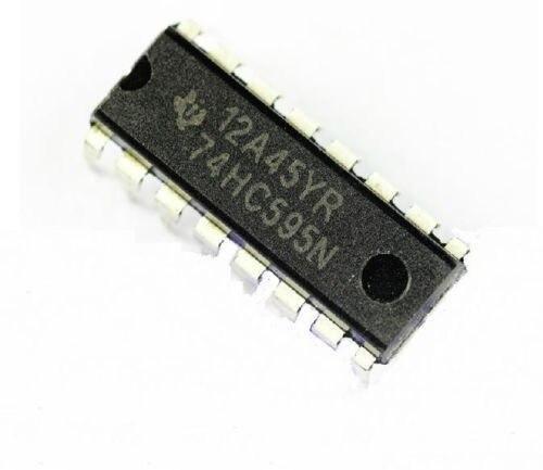 10PCS IC 74HC595 74595 SN74HC595N 8-Bit Shift Register DIP-16 NEW GOOD QUALITY бесплатная доставка горячее надувательство интегральные схемы оригинальный mc14556bcp ic dcoder demux dual 1 4 16 dip 14556 mc14556 10 шт