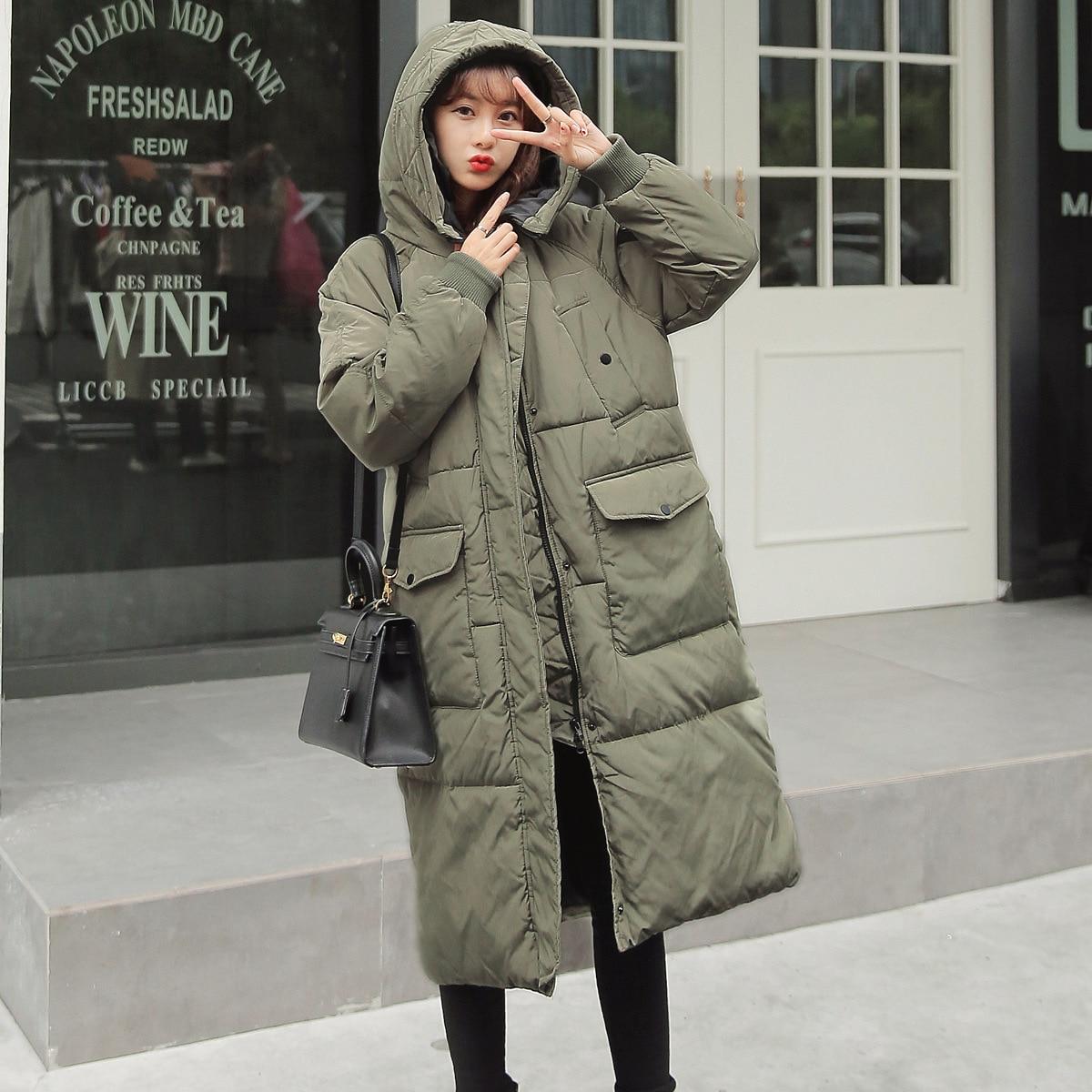 2018 mode Frauen Winter Warm Verdicken Reißverschluss Mantel