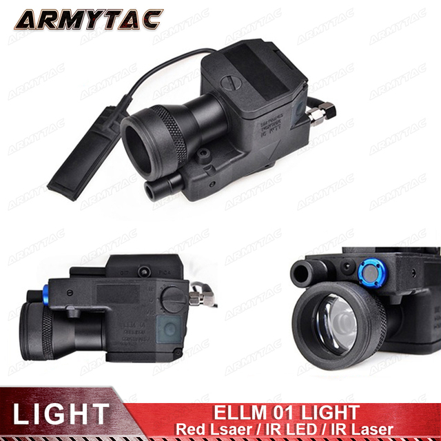 ArmyTac Airsoft ELLM01 тактический фонарь новая версия Led лазерный ИК инфракрасный военные свет винтовка полностью функциональный EX214