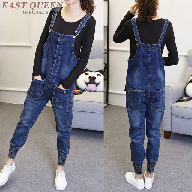 a6b535e6b0e Spring women jeans pants jumpsuits   rompers casual loose full length  combine bodysuits slim preppy style
