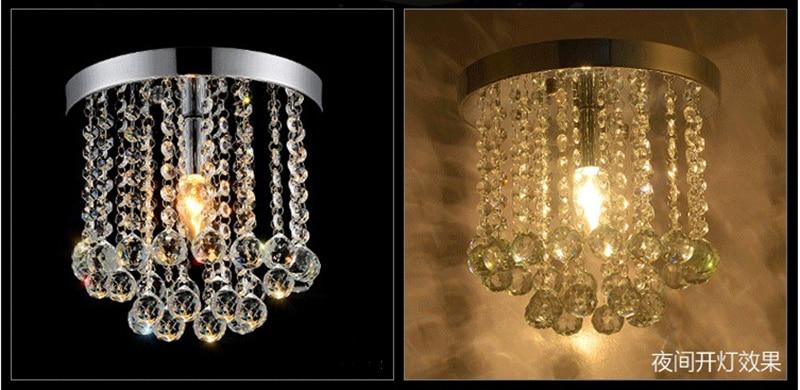 Led de cristal sala estar lâmpada moderna simples varanda entrada