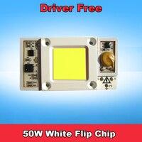 1pcs High Power Driver Free 50W Input AC 220V Cool White 6000k 6500k LED Flip Chip