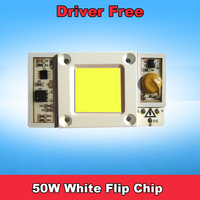 1pcs High Power Driver Free 50W Input AC 220V Cool White 6000k 6500k LED Flip Chip