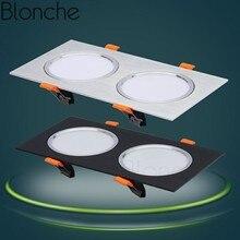 Светодиодный потолочный светильник Blonche, 3 Вт/7 Вт/12 Вт, AC85~ 265 В, простой/двухголовый панельный светильник для гостиной, спальни, кухни, Современный домашний декор