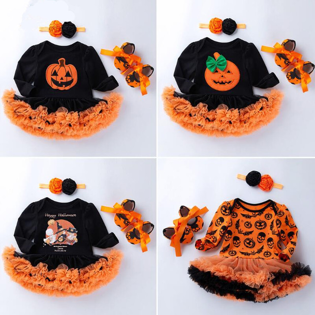 Trick or Treat Skull Face White Bloomer Halloween Panty Baby Girl Clothing 6-24m