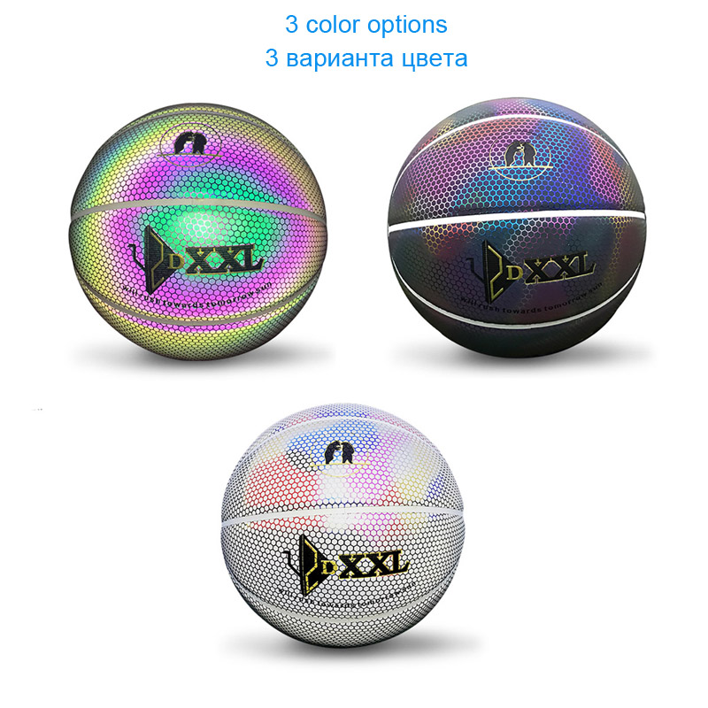 Luminous Street Rubber Basketball Ball Size 7 For men For women outdoor and indoor professional basketballs Team sports