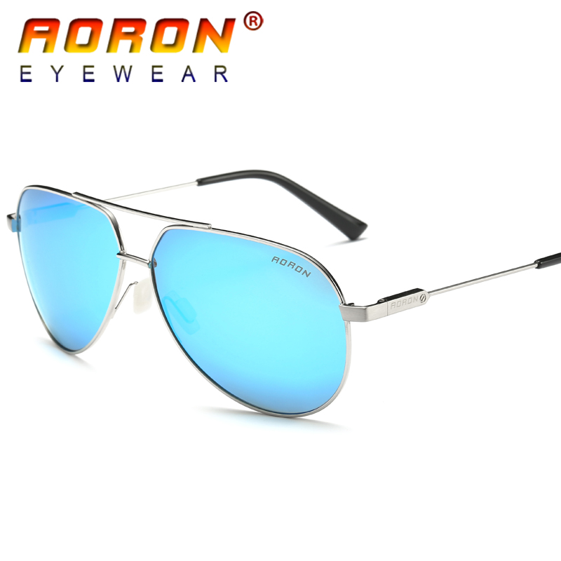 AORON Brand Designer Retro Polarized Sunglasses Coating Mirrored Vintage Sol Eyeglasses font b Eyewear b font