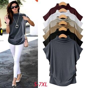 Womens Cotton Blouse Short Sleeve Plus Size Blouse
