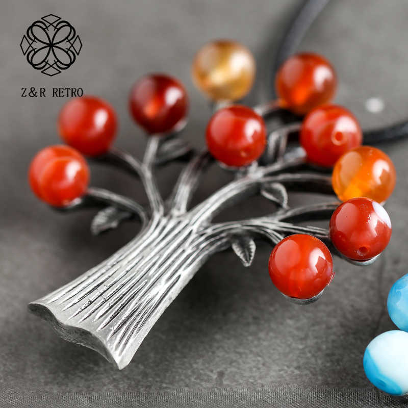 Tree Necklaces & Pendants Handmade Necklaces For Women Jewlery Rope Chain Necklace Big Women Accessories Gifts For Friends