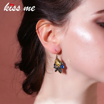 KISS ME Statement Jewelry Fashion Classic Irregular Geometric Plant Flowers Drop Earrings Factory Wholesale image