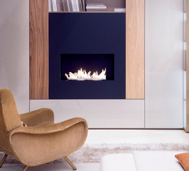 18 Inch Silver Or Black Wifi Real Fire Intelligent Indoor Automatic Ethanol Burner Fireplace