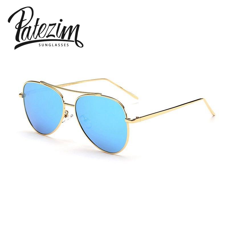 e853a0b7a8 Polarizado gafas de sol de lujo aviación piloto marca diseñador Metal marco  mujeres gafas rossi harajuku mujer hombres gafas de sol