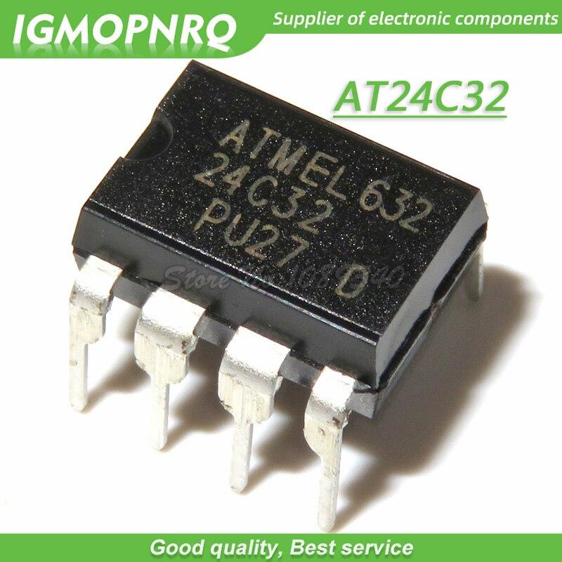 10 PCS AT24C128-10PU-2.7 DIP-8 AT24C128 24C128 PU27 2-Wire Serial EEPROM