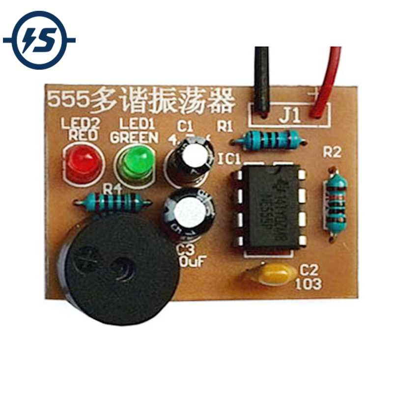 DIY Kit 555 Multibrator Suite NE555 Astable Circuit Practical Electronic Production Training  Dual Flash LED Parts