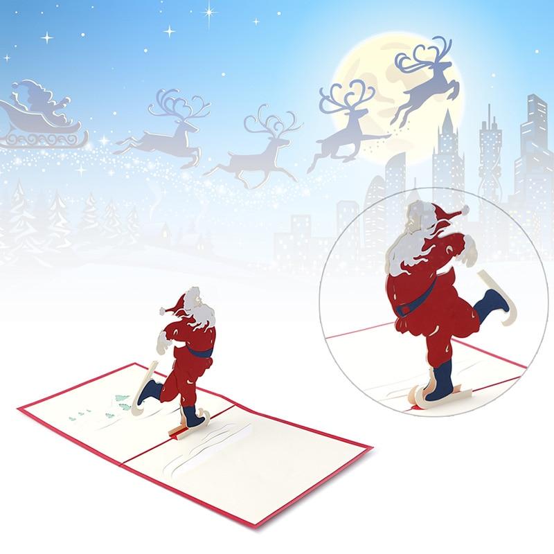 Nice Christmas Cards 3D Pop Up Merry Christmas Series Santa\'s ...