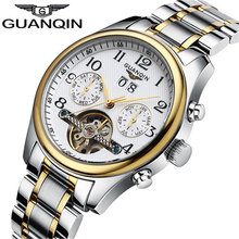 Watches MenTop Brand Luxury GUANQIN Automatic Watch Men Waterproof Luminous Commerce Retro Mechanical Wind Watches