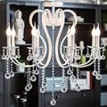 Современная хрустальная люстра 6 шт. E14 лампы белого цвета хрустальные люстры модная Гостиная k9 хрустальная лампа бесплатная доставка