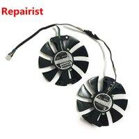 Repairist 2pcs Lot Geforce GTX 760 GPU Graphics Cards Cooler Fan For ZOTAC GTX760 2GD5 HB